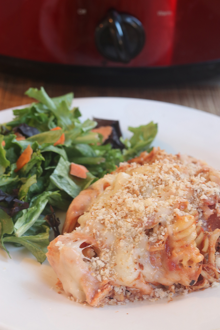 Slow Cooker Chicken Parmesan Casserole