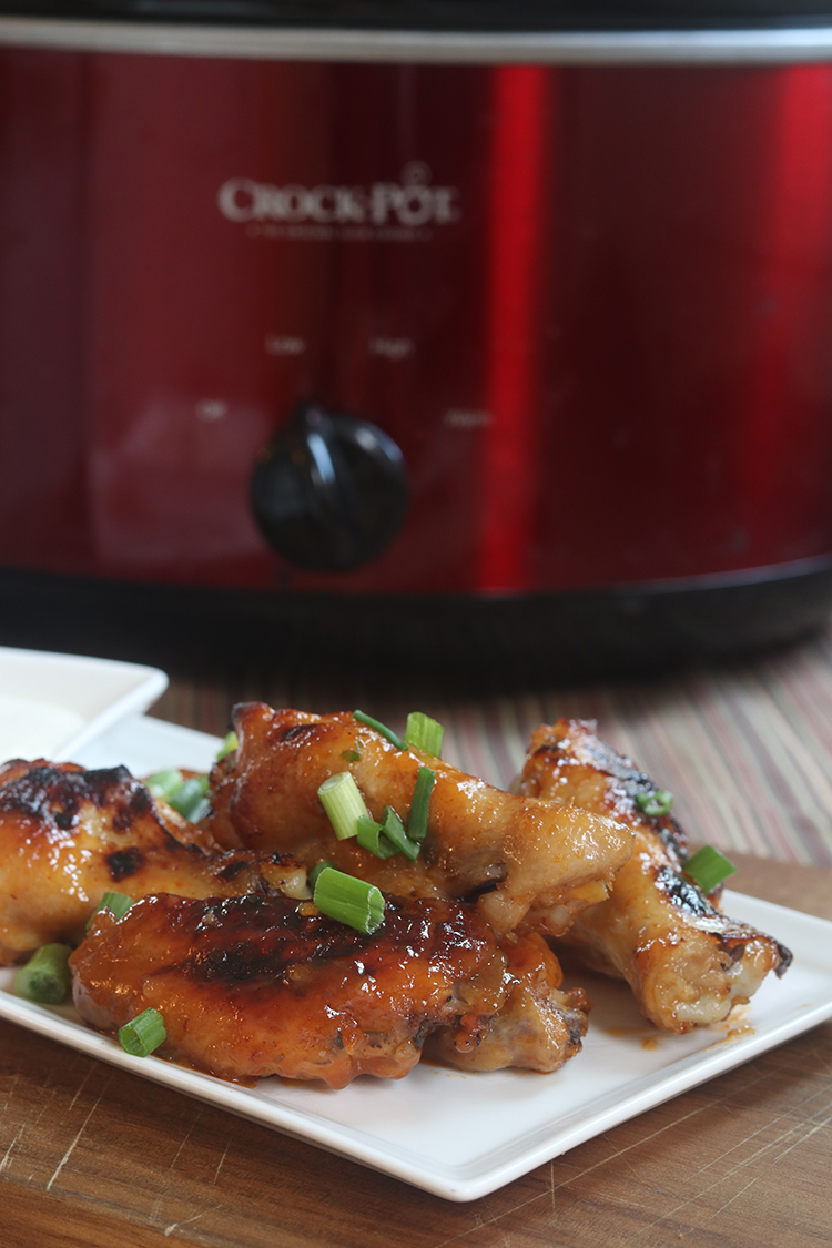 Slow Cooker Honey BBQ Chicken Wings