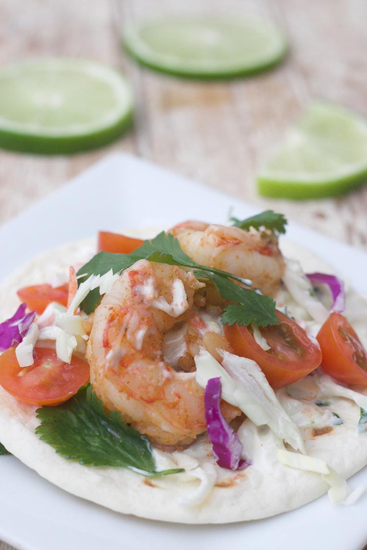 Shrimp Street Taco with Lime Cilantro Slaw