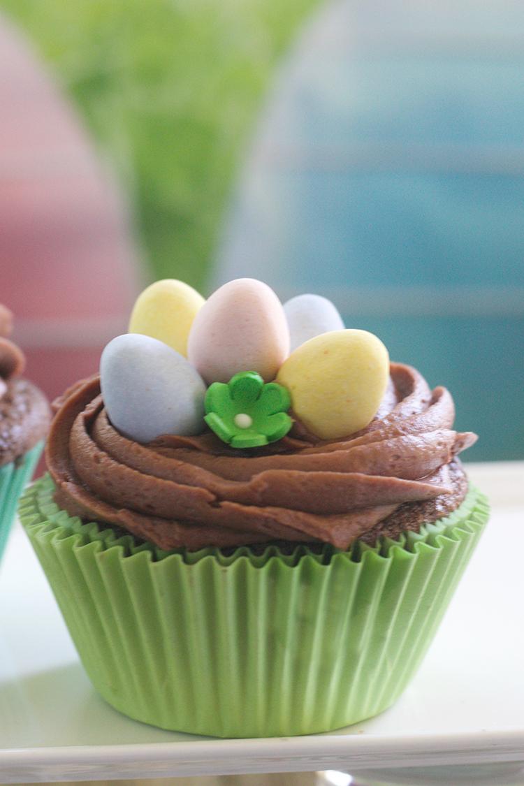 Spring Nest Cupcakes