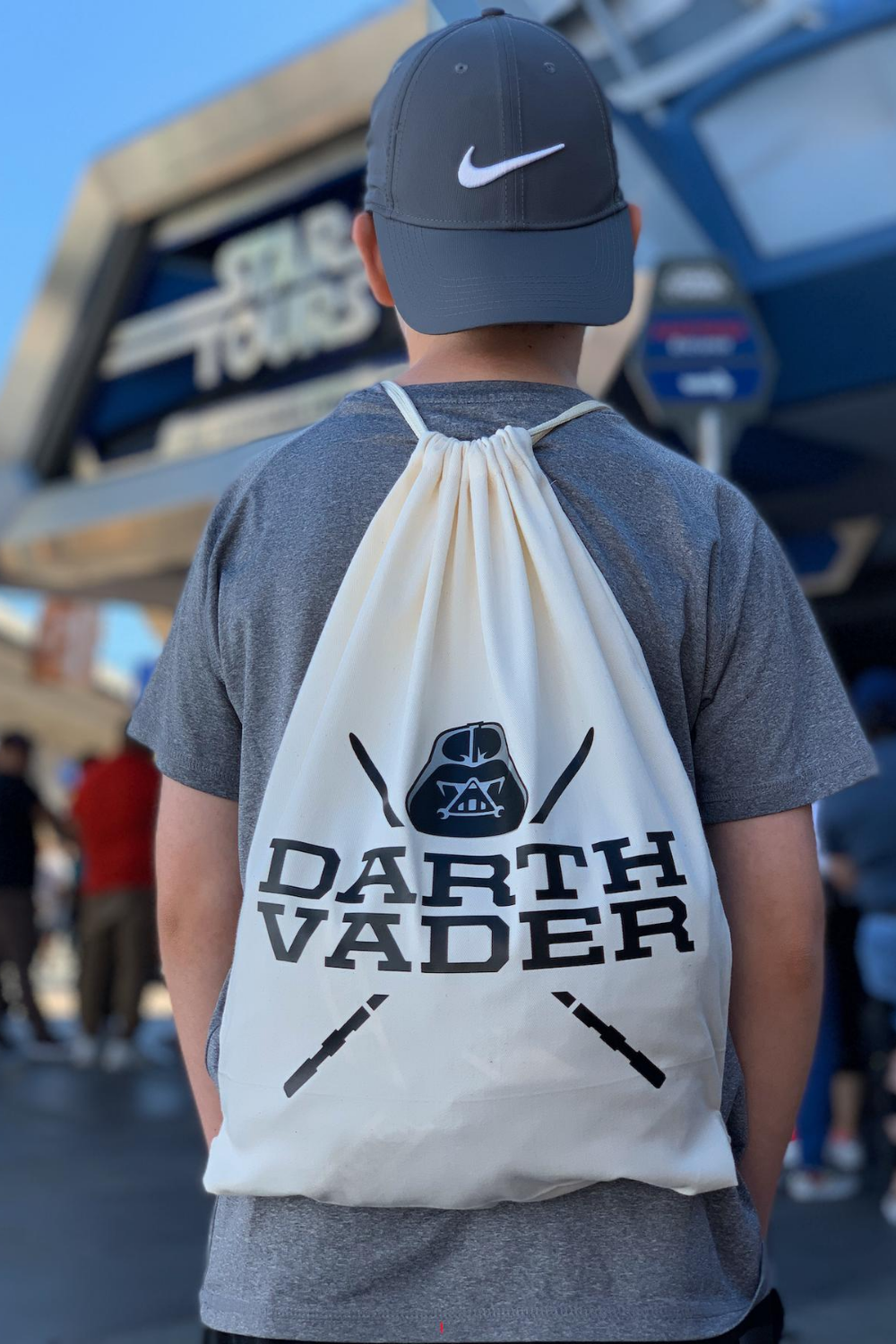 DIY Darth Vader Drawstring Bag