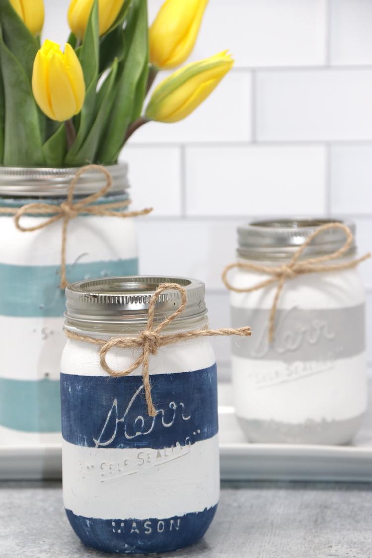 Chalk Paint Mason Jars