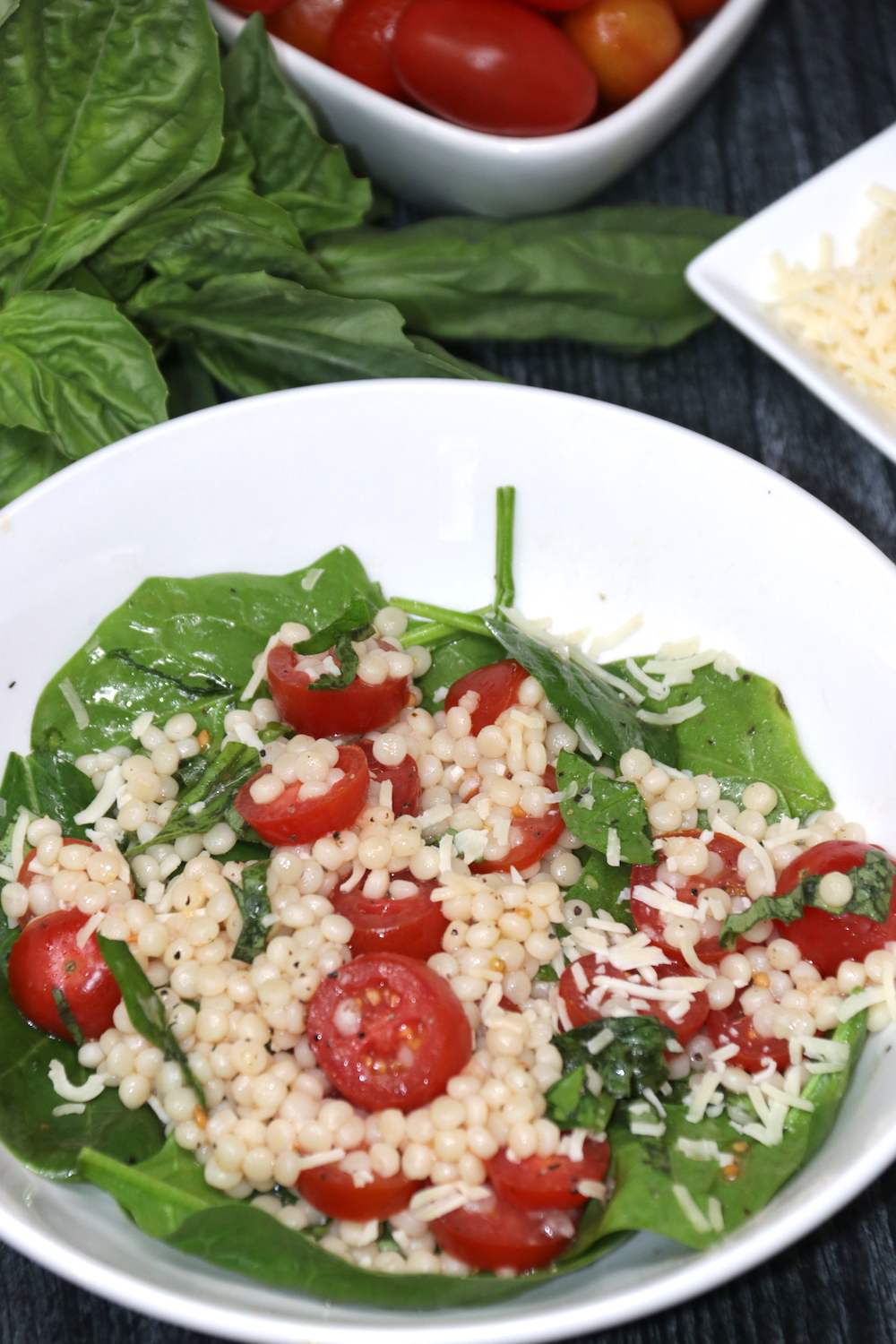 Italian Spinach Couscous Salad