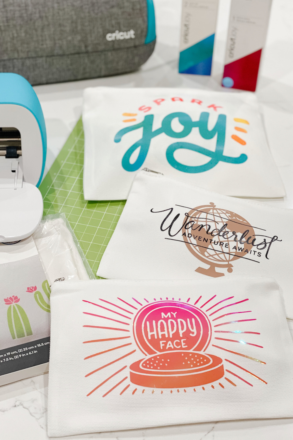 DIY Cosmetic Bags with Cricut Joy