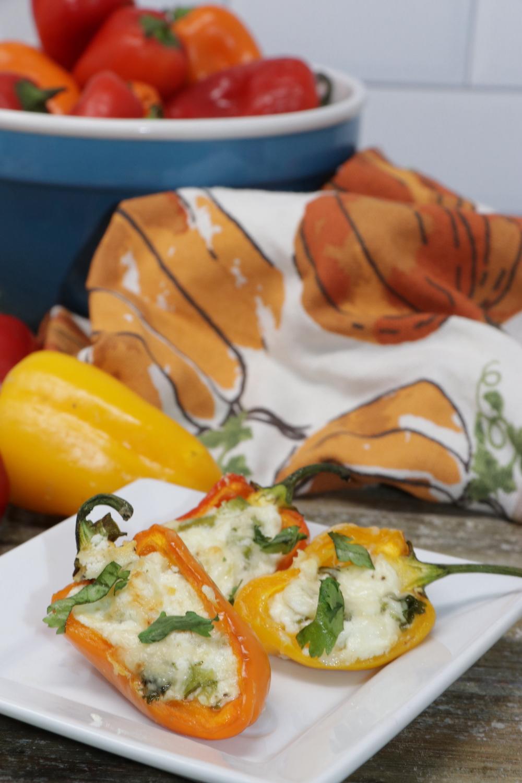 Goat Cheese Stuffed Mini Sweet Peppers
